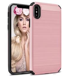 $enCountryForm.capitalKeyWord Australia - For iPhone X XR XS Max 6 7 8 Plus Hybrid Armor Brush PC TPU Case For Samsung Galaxy S8 S9 S10 Lite