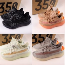 ef4ef24d6d789 True Form Infant 350 v2 Hyper space Kids Running shoes Clay Kanye West  Fashion toddler trainers big small boy girl Children Toddler sneaker