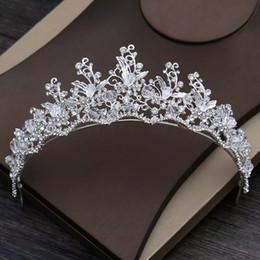 Gorgeous Princess 2019 Big Wedding Crowns Bridal Jewel Headpieces Tiaras  For Women Silver Metal Crystal Rhinestone Baroque Hair Headbands 8d329c54c93e