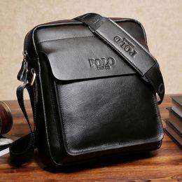 Nice Fashion Cheap Men Bag Leather Brown Vintage POLO FANKE Casual Men  Small Messenger Bags Brand High Quality Messenger Bag 7b9d3b566e8ab