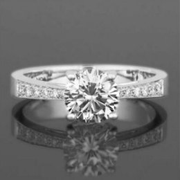 $enCountryForm.capitalKeyWord Australia - 1.35 CT SI1 D SOLITAIRE ACCENTED 4 PRONGS 14K WHITE GOLD
