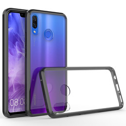 Wholesale huawei honor bumper resale online - Clear Case for Huawei Honor20 Mate20 P20 P10 Lite Honor C Thin Slim Anti Yellow Anti Slippery Anti Scratches Cover Shockproof Bumper Case