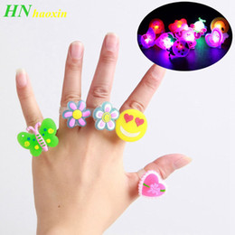 Glow baby toy online shopping - HaoXin Glowing Flash Rings Child Luminous Toys for Kids Cartoon Led Finger Light Flashing Toys Baby Girl Birthday Gift