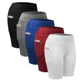$enCountryForm.capitalKeyWord NZ - Fashion- Quick Dry Women Sports Shorts Women Elastic Black White Running Fitness Gym Shorts With Pocket Fitness Workout Shorts 2 pcs lot