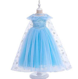 $enCountryForm.capitalKeyWord UK - Princess skirt Snowflake sequin tutu Tulle lace dress fashion boutique baby girl skirt cartoon Costumes with cape children dress