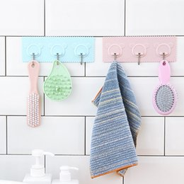 $enCountryForm.capitalKeyWord Australia - Home Hooks Brute Force Sticking Wall Hook Kitchen Shower Room Paste Hanging Hanger Nothing Trace A Hook Avoid Nail Bearing