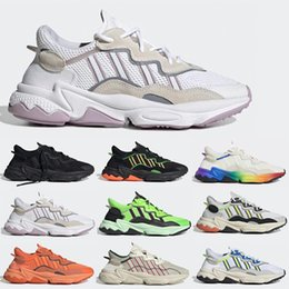 tone up shoes Australia - Running Shoes Pride For Ozweego Men Women Cloud White Neon Green Bold Orange Halloween Tones Triple black Trainer Sports Sneakers 36-45