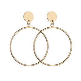 1d3b3a245b457 Shop Simple Gold Earring Round UK | Simple Gold Earring Round free ...