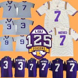 NCAA Colleg LSU Tigers Football Jersey Odell Beckham Jr Leonard Fournette  HONEY BADGER Patrick Peterson Tyrann Mathieu b0658c92d