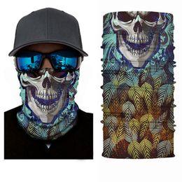 Wholesale Headband Scarf Hip-hop Bandanas Head Scarf Scarves Vintage Pocket Towel Magic Neck Outdoor Skull Cycling Bandana face mask KKA7822
