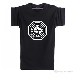 Tv T Shirts Australia - Summer American Tv Series Lost Dharma Initiative T Shirt Men Fitness Short Sleeve T-Shirt Tops Tees Camisetas Masculinas