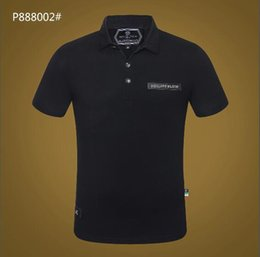 6ca7a3828a837d5 Мужская повседневная полосатая футболка 2019 новая мода лацкане рубашки поло  роскошный дизайнер бренд вышивка печать хлопок высокого качества футболка  #6006