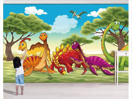 $enCountryForm.capitalKeyWord Australia - Custom 3d photo murals wall paper home decor Jurassic Dinosaur Park Forest Grass Wing Dragon Children's Room Background Wall papel de parede