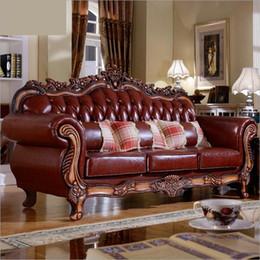 Design Genuine Leather NZ - fashion modern Hot Sale new arrival Sofa French Design genuine leather living room furniture Sofa 1+2+3 o1057