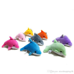 $enCountryForm.capitalKeyWord Australia - Lovely Mini Cute Dolphin Charms Kids Plush Toys Home Party Pendant Gift Decorations Free Shipping