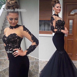 Red lace bodice online shopping - 2020 Sexy Black Prom Dress Formal Party Maxi Gown Mermaid Evening Wear Sheer Bodice Plus Size Tulle Skirt