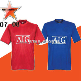 463f6f8e718 2006 2007 2008 United Retro UCL final match manutd home shorts Jersey 1993  1994 1998 2010 2011 2013 RONALDO 07 08 shirt