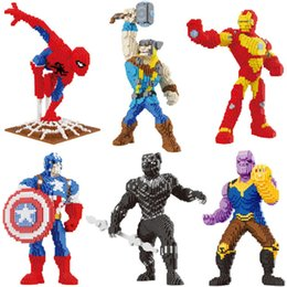 Super Blocks Australia - Marvel Avengers Diy Building Diamond Nano Blocks Toy Super Hero Iron Man Spiderman Thunder Thor Captain America Black Panther Q190521