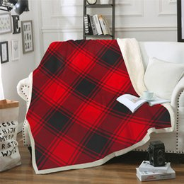 Discount full beds kids - Plaid Blankets BeddingOutlet Double Layer Coral Fleece Blanket for Adult Kids Throw Blanket Towel Bedding Sheet Home Tra