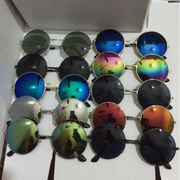 Venta al por mayor de Gafas de sol para niños Gafas de sol para niños Gafas para exterior Gafas de sol reflectantes con montura de metal Gafas para espejo de moda MMA1593
