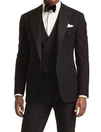 Brown vests for men online shopping - Classic Peak Lapel Wedding Tuxedos Slim Fit Suits For Men Groomsmen Suit Three Pieces Cheap Prom Formal Suits Jacket Pants Vest Tie