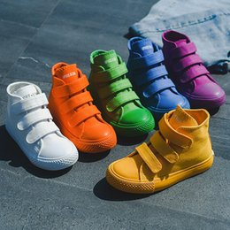 Girl Shoes Canvas Australia - Children Canvas Shoes Girls Sneakers High Top Boys Shoes 2019 New Spring Autumn Fashion Sneakers Kids Casual Shoes Footwear Y19051303