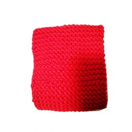 cotton scarves for sale NZ - Winter Use Red Cotton Scarf Outdoor Keep Warm Handmade knitted Scarves Small MOQ Express Shipping Neck Scarf Blanket For Sale