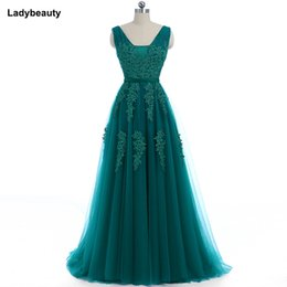 $enCountryForm.capitalKeyWord UK - wholesale 2018 Elegant Long Bridesmaid Dresses Appliques Lace beading V-neck style Wedding Party Dress Under