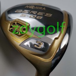 Gold Golf clubs online shopping - golf club honma s men gold fairway wood graphite dedicated shaft R