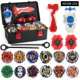 Großhandel Beyblade Zappeln Spinner 12pc / Box Burst Beyblades Metall Fusion Arena 4d Bey Blade Launcher Spinning Top Beyblade Spielzeug für Kinder Spielzeug 4124