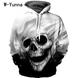 tracksuit women skull NZ - Newest Skull Print 3d Hooded Pullovers Full Sleeve Winter Autumn Hoodies Sporting Tracksuits Couplewear Women men Sweatshirts Y190812