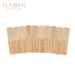 China NAOMI 10pcs Box Saxophone Reeds For Alto Sax Alto BE Saxophone Reeds 3-1 2 Sax Reed Strength 3.5 Woodwind Parts & Accessories cheap sax accessories suppliers