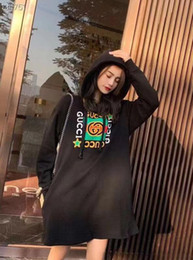 Wholesale design hoodies for free for sale – custom New Fall Winter Designs For Women s Hoodies Thickened With Printed Letters Loose Fashion Trends Long Hoodies Size S XL