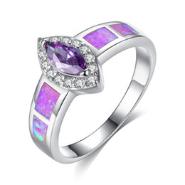 $enCountryForm.capitalKeyWord Australia - Hot personalized horse eye ring Fashion purple diamond silver plated engagement wedding female ring