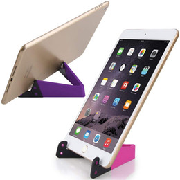 $enCountryForm.capitalKeyWord NZ - Universal Foldable V Shape Cell Phone Tablet Desk PC Stand Holder Mount For iPhone X Xs Xs max iPad Mini Ipad Pro Samsung S9 Huawei Mate 20