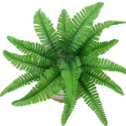 $enCountryForm.capitalKeyWord UK - 7 Forks Simulation Green Plant Plastic Fake Foliage Artificial Persian Grass Leaves Home Garden Decoration Ornament