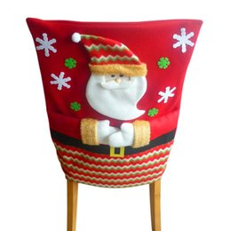 santa claus chair covers Australia - Christmas Comfortable Chair Cover Xmas Snowman Santa Claus Chair Cover Decor Kid Christmas Gift and Cute Home Decor