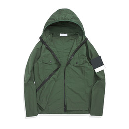 Wholesale trench coat green color for sale - Group buy topstoney konng gonng Spring and autumn new thin Hooded Jacket advanced version fashion brand trench coat