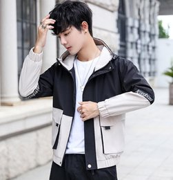 $enCountryForm.capitalKeyWord Australia - Fall 2019 New Luxury Men's Jacket Popular Korean Edition Leisure Handsome Workwear, Hat Chao Brand Embroidered Men's Jacket