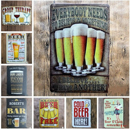 vintage metal poster Australia - Notice Metal Signs Retro Warning Sign Metal Tin Signs Wall Poster Decals Plate Painting Bar Club Pub Garage Vintage Home Decor Wall 20*30cm