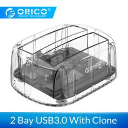 $enCountryForm.capitalKeyWord Australia - ORICO 2.5 3.5 inch 2 Bay USB3.0 Transparent Hard Drive Enclosure With Offline Clone Function Support 24TB UASP HDD Dock Station ORICO