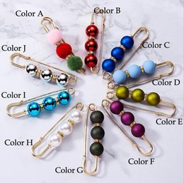$enCountryForm.capitalKeyWord NZ - Clothes Pins Women Brooch - Imitation Pearl Crystal Classic Style Brooches Pin Gift Wedding Dress Badge Fashion Accessories Jewelry