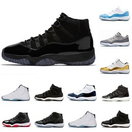 6974b58c9e60 2019 prom night XI 11s 11 Cap and Gown Men women Basketball Shoes Concord 45  bred space jam Mens Sports sneaker With Box