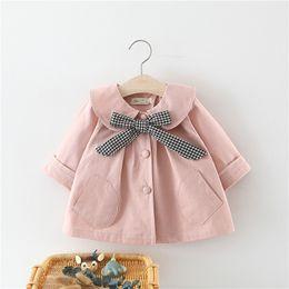 Fans Baby NZ - 2018 Rushed Official Store Cardigan Infantil Baby Coat Spring 2019 Girls Coat Han Edition Tide Grid Tie Fan Infant Dust