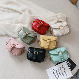 kids mini messenger purses bags 2019 - Kids Designer Handbags 2019 New Girls Mini Princess Purses Fashion Chain Cross-body Bags High Qualuity Pu Coin Bags Baby