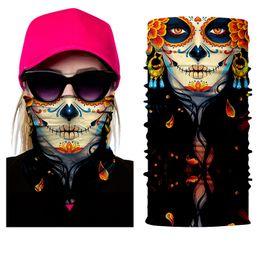 $enCountryForm.capitalKeyWord Australia - BJMOTO NEW Scary Skull Masks Skeleton Easter Motorcycle Bicycle Riding Headwear Scarf Half Face Mask Terror Cap Neck Ghost