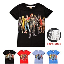 $enCountryForm.capitalKeyWord Australia - New Designs Hot Game Role Printed Kids T-shirt 4 Colors 6-14t Kids Boys Girls 100% Cotton t shirt kids designer clothes DHL SS229