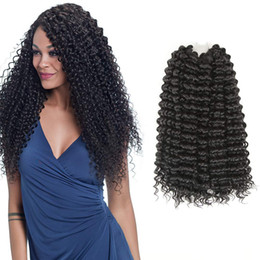 "$enCountryForm.capitalKeyWord Australia - Freetress Synthetic Water Wave 18"" 3Pieces lot Nature Black Color Hair Extensions Bulk Crochet Latch Hook Braiding Hair for Women"