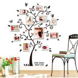Family Tree Photo Wall Stickers Australia - Black 3D DIY Photo Tree PVC Wall Decals Adhesive Family Wall Stickers Mural Art Home Decor