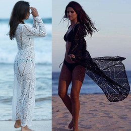 $enCountryForm.capitalKeyWord Australia - New Long Crochet Beach Cover Up Robe De Plage Swimsuit Cover Up Saida De Praia Longa Women Bathing Suit Cover Up Tunics Beach J190718